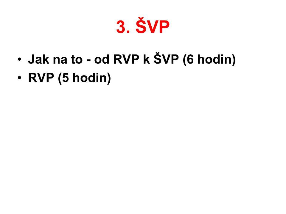 3. ŠVP Jak na to - od RVP k ŠVP (6 hodin) RVP (5 hodin)