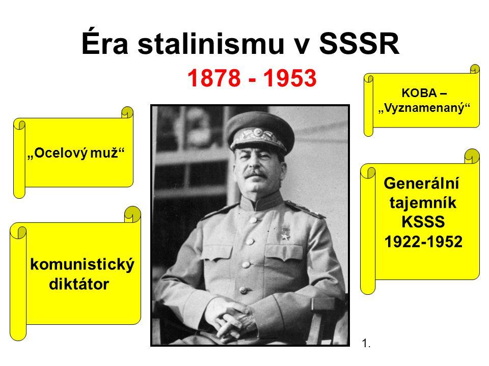 Éra stalinismu v SSSR 1878 - 1953 Generální tajemník KSSS 1922-1952