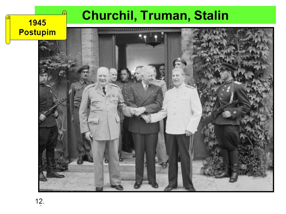 Churchil, Truman, Stalin
