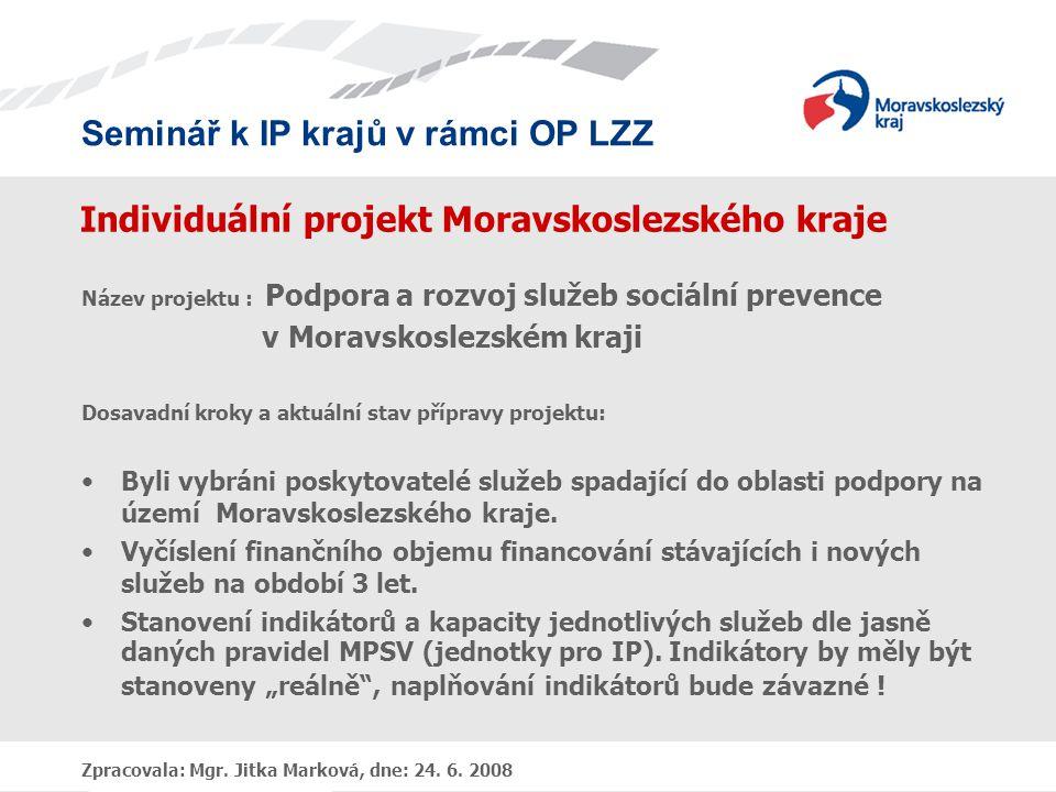 Individuální projekt Moravskoslezského kraje