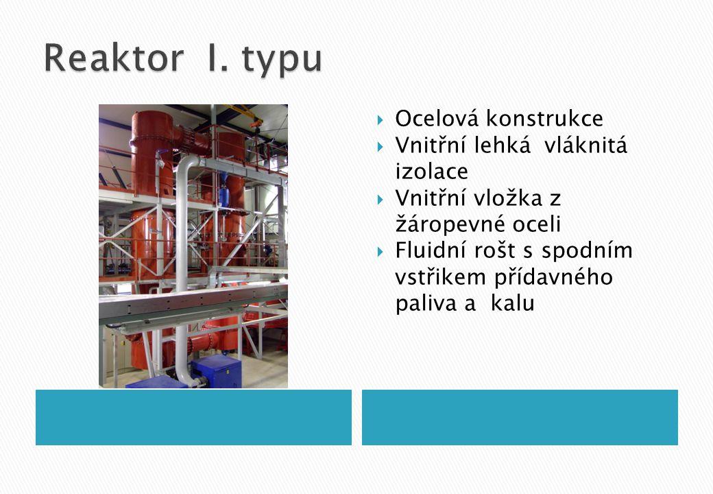 Reaktor I. typu Ocelová konstrukce Vnitřní lehká vláknitá izolace