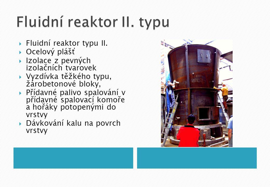 Fluidní reaktor II. typu