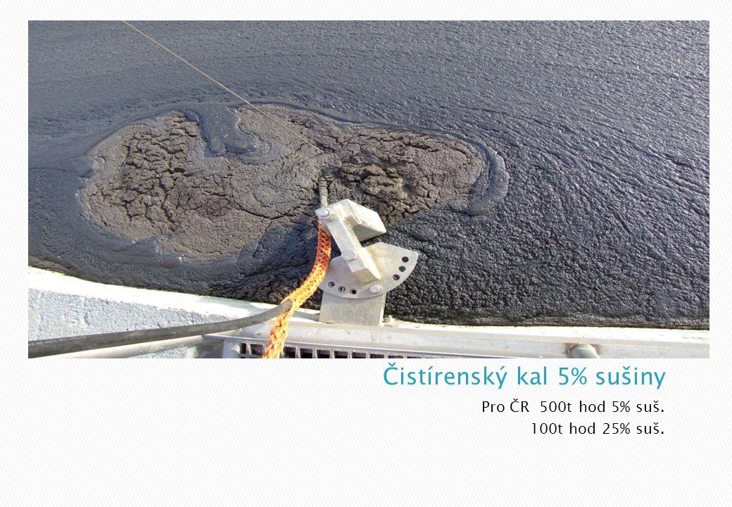 Čistírenský kal 5% sušiny