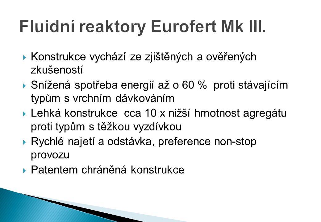 Fluidní reaktory Eurofert Mk III.