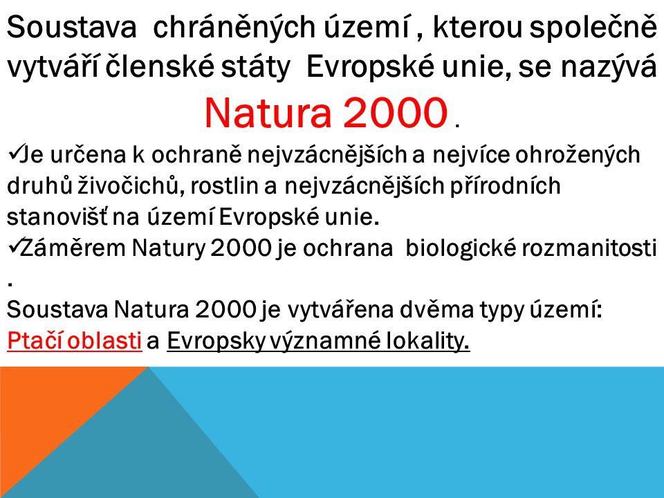 Soustava chráněných území , kterou společně vytváří členské státy Evropské unie, se nazývá Natura 2000 .