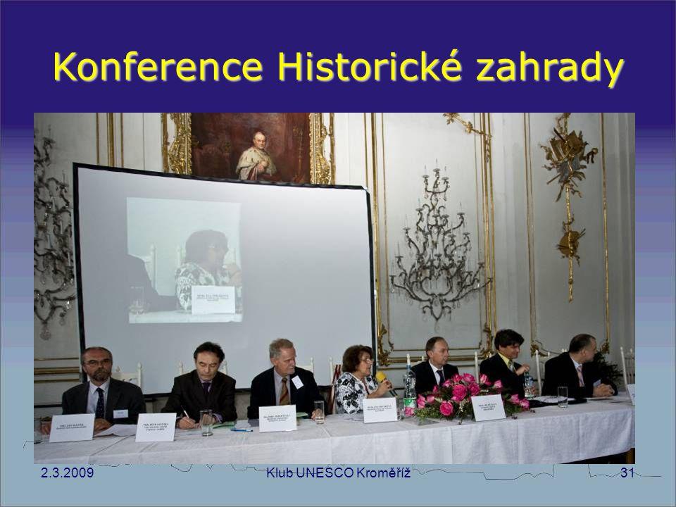 Konference Historické zahrady