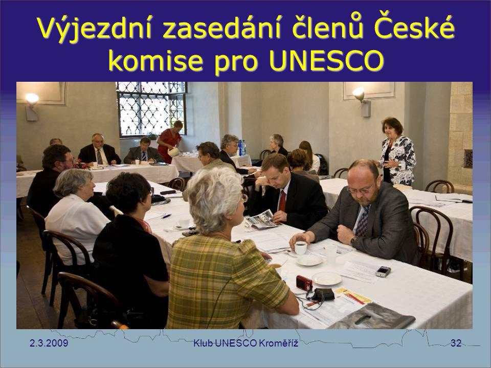 Výjezdní zasedání členů České komise pro UNESCO