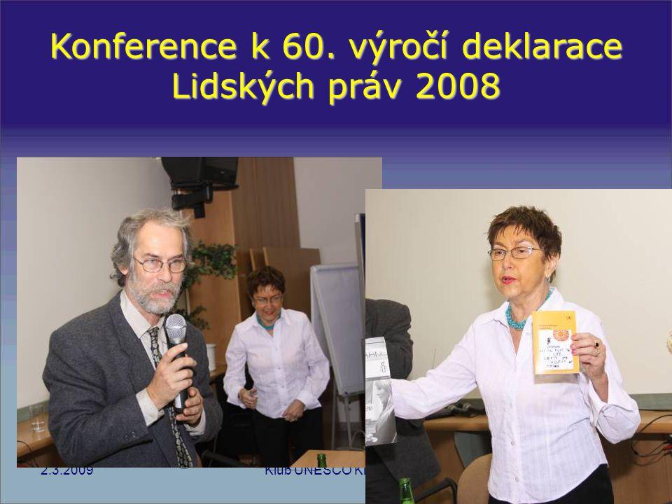 Konference k 60. výročí deklarace Lidských práv 2008