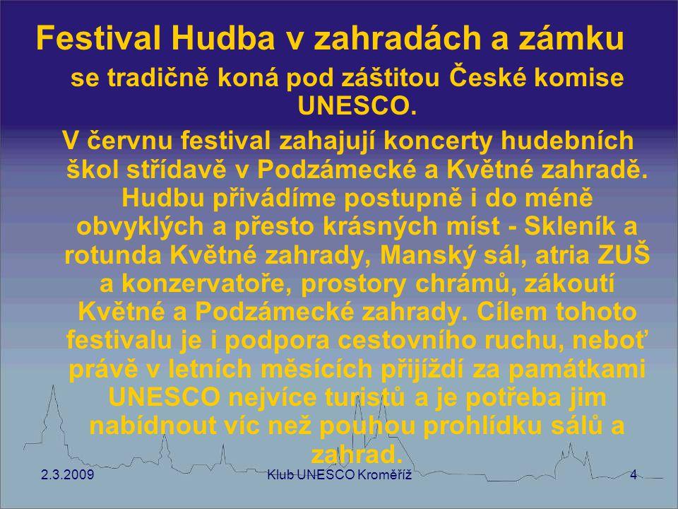 se tradičně koná pod záštitou České komise UNESCO.