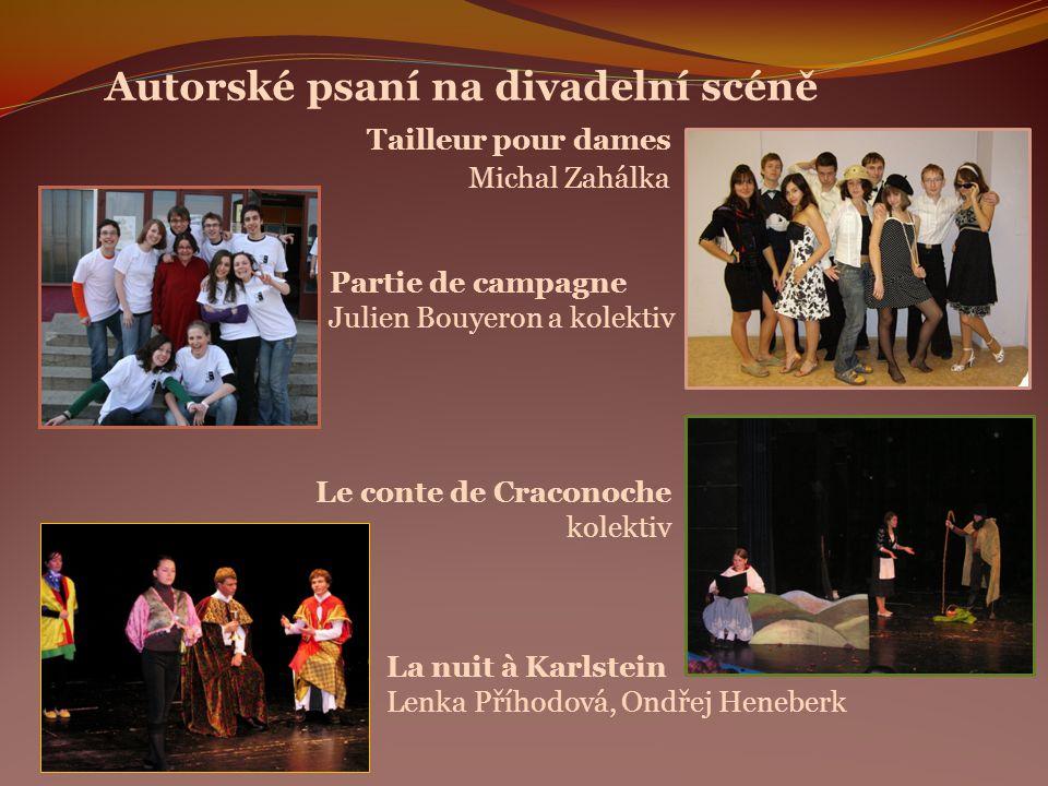 Autorské psaní na divadelní scéně. Tailleur pour dames. Michal Zahálka