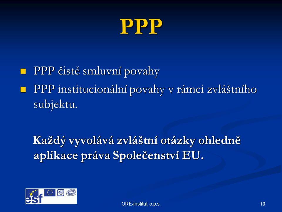 PPP PPP čistě smluvní povahy