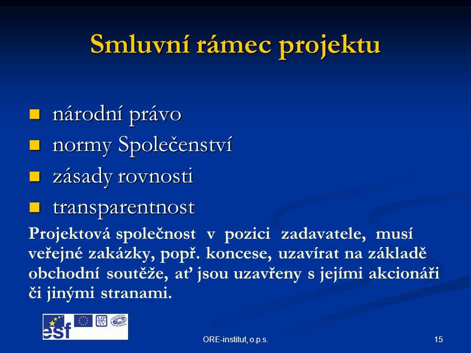 Smluvní rámec projektu