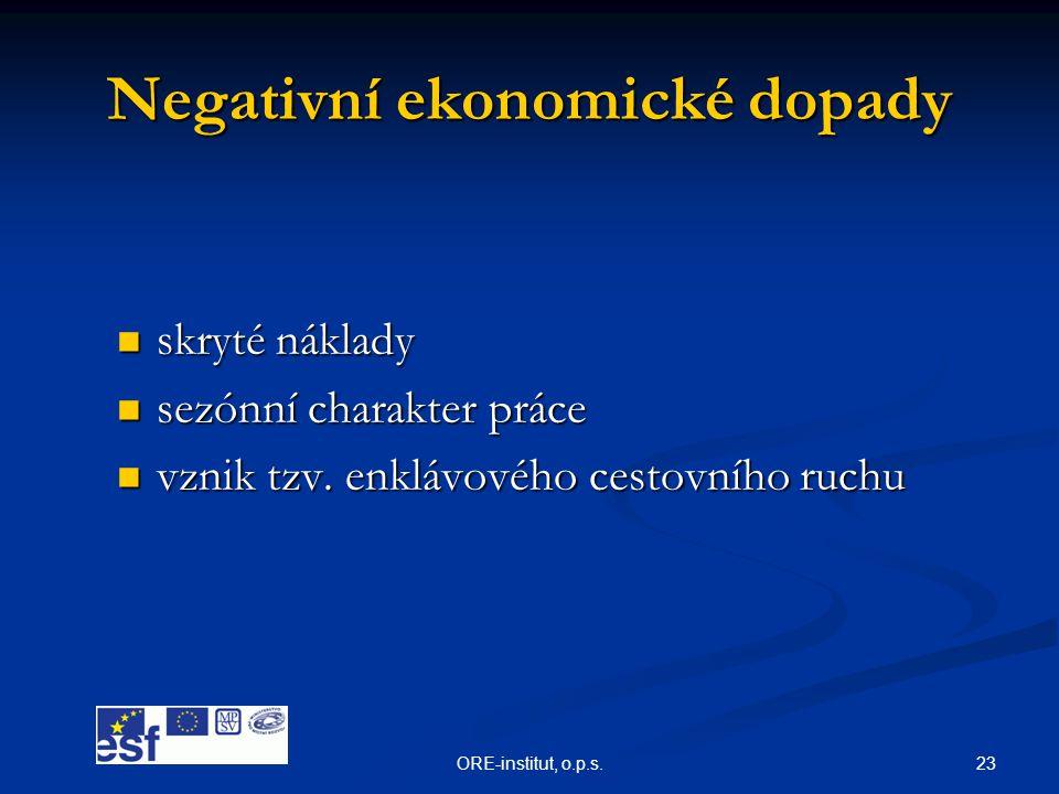 Negativní ekonomické dopady