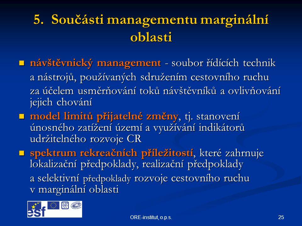 5. Součásti managementu marginální oblasti