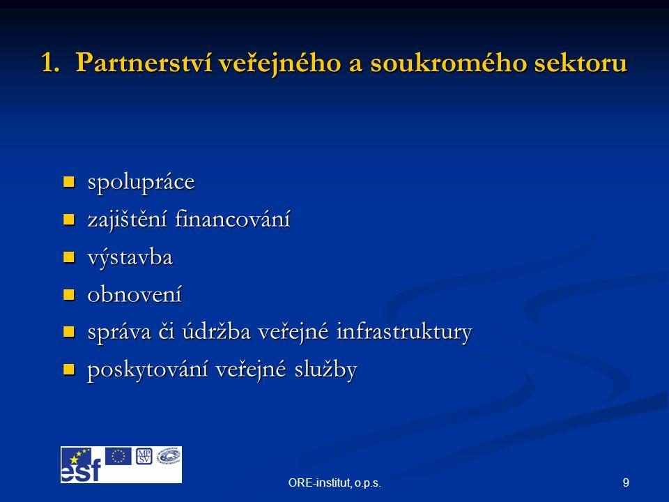 1. Partnerství veřejného a soukromého sektoru