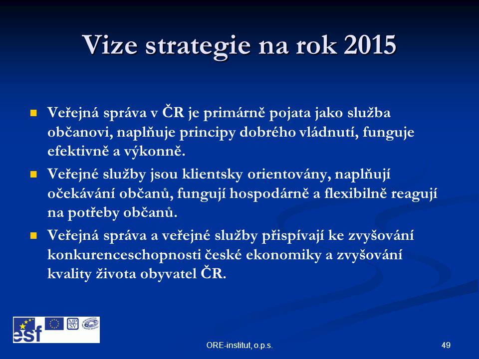 Vize strategie na rok 2015