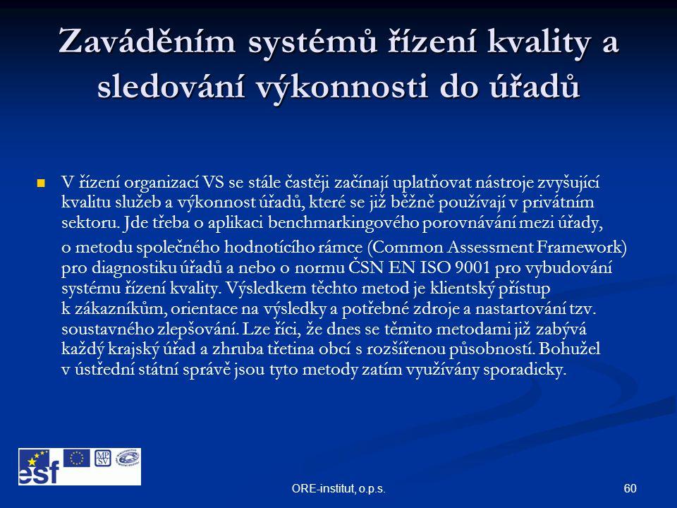 Zaváděním systémů řízení kvality a sledování výkonnosti do úřadů