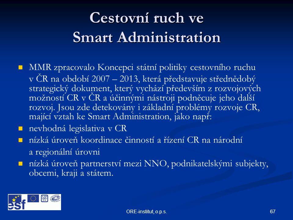Cestovní ruch ve Smart Administration