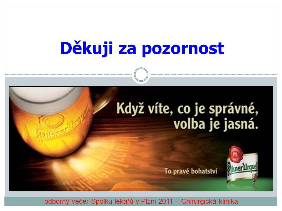 odborný večer Spolku lékařů v Plzni 2011 – Chirurgická klinika