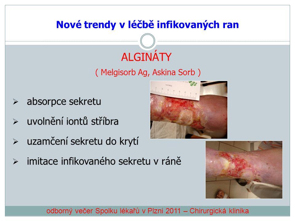 Nové trendy v léčbě infikovaných ran