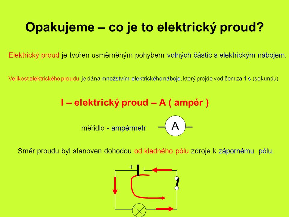 Opakujeme – co je to elektrický proud
