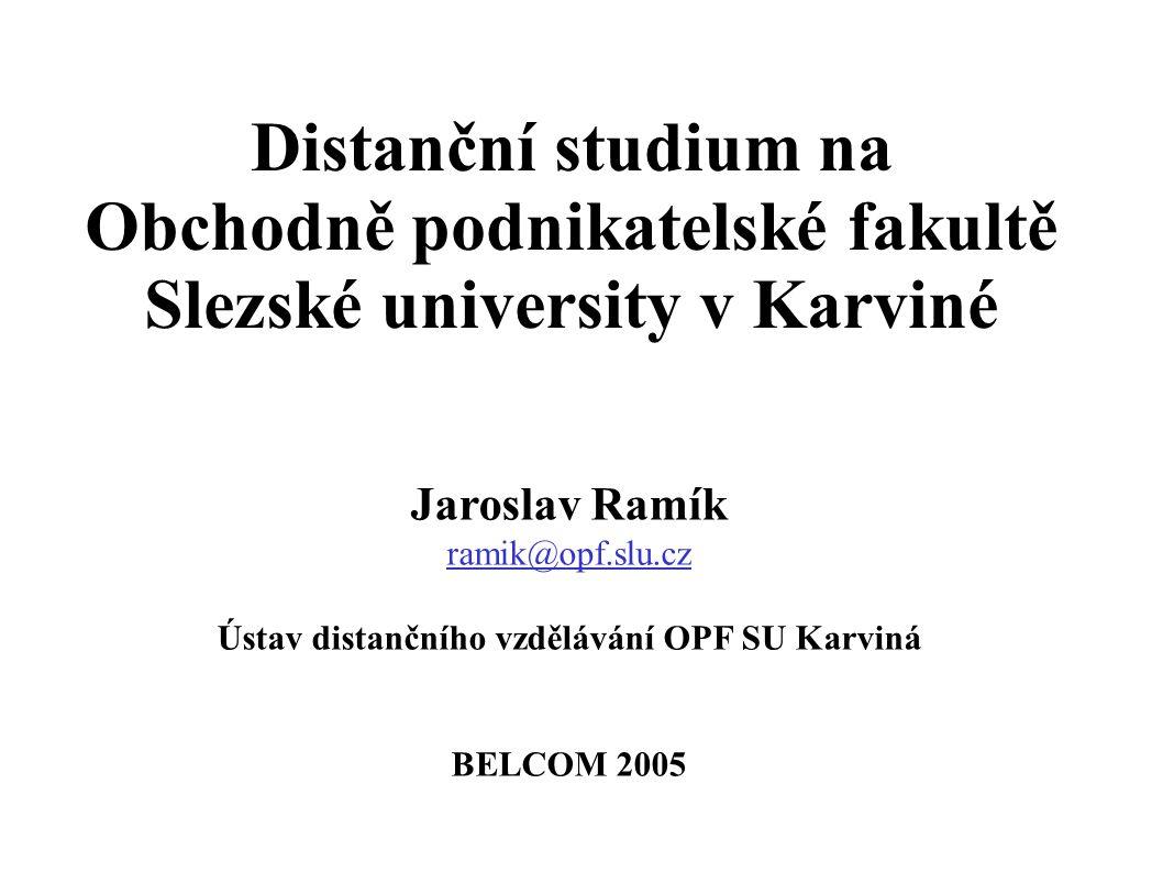 Ústav distančního vzdělávání OPF SU Karviná
