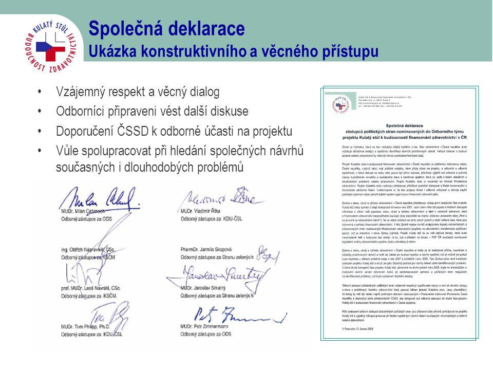 Společná deklarace Ukázka konstruktivního a věcného přístupu