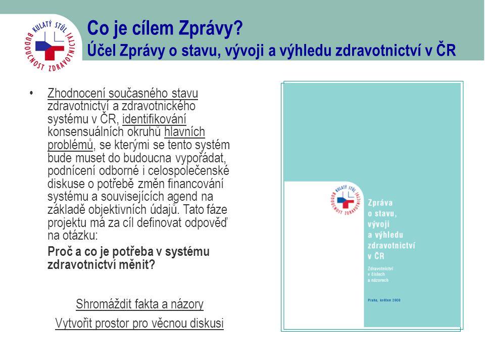 Co je cílem Zprávy Účel Zprávy o stavu, vývoji a výhledu zdravotnictví v ČR