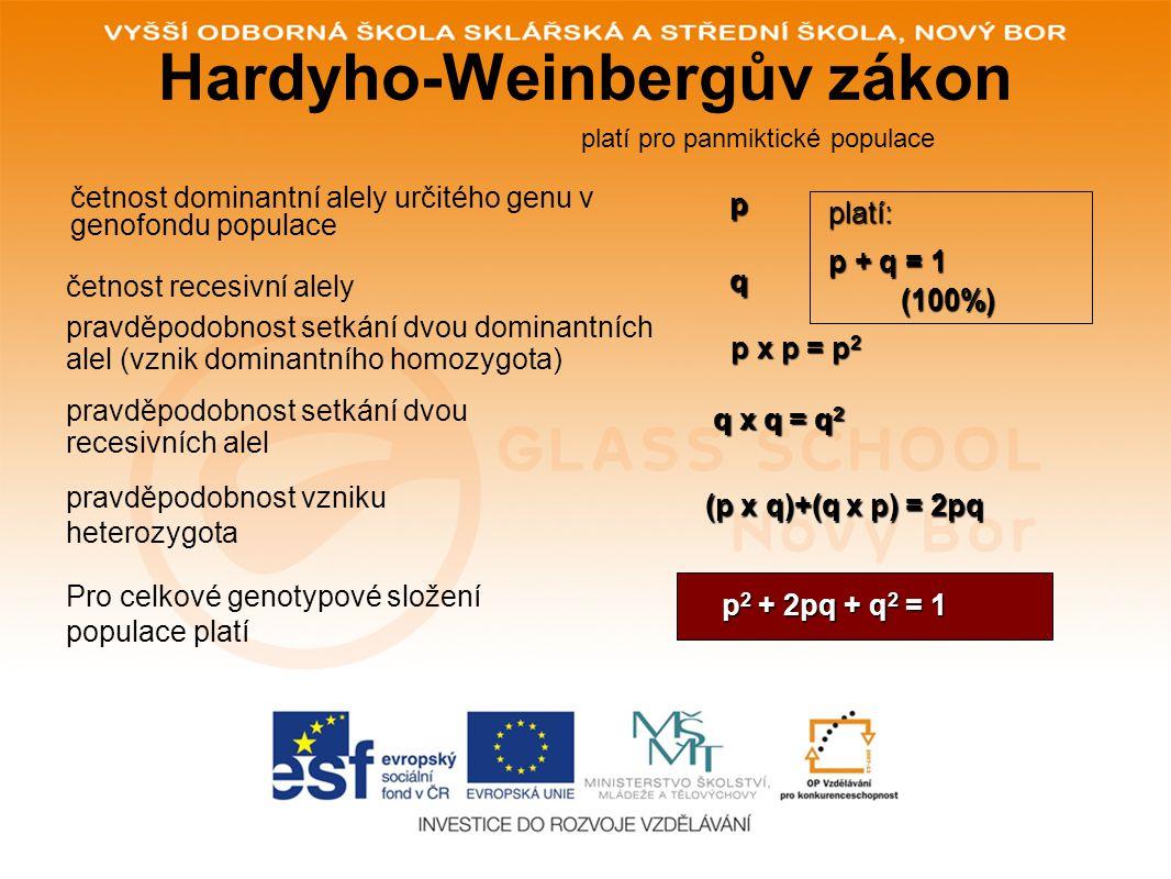Hardyho-Weinbergův zákon