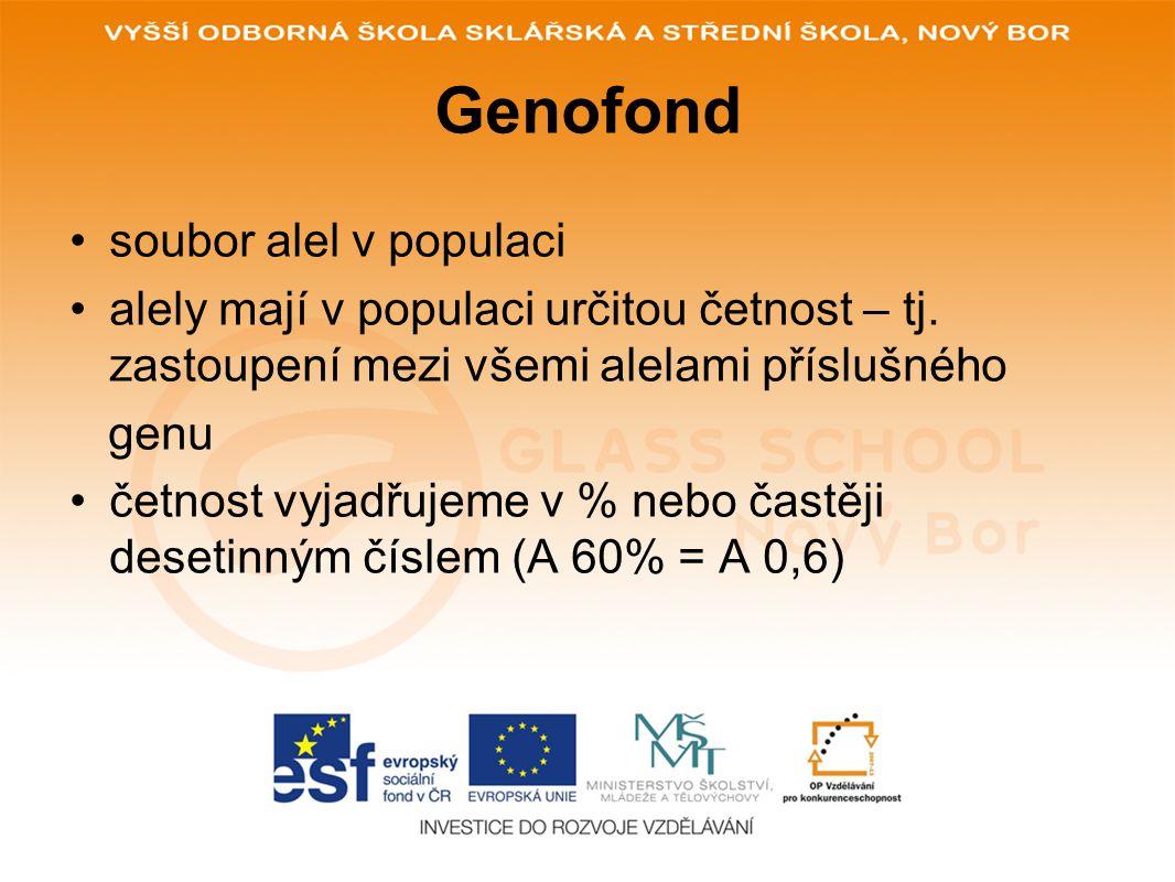 Genofond soubor alel v populaci