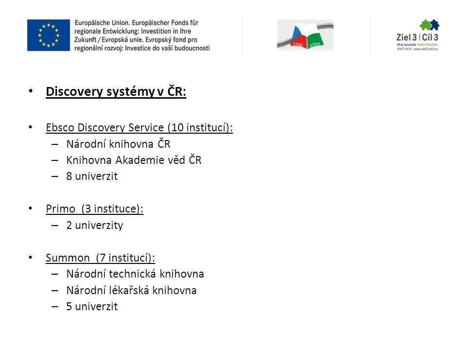 Discovery systémy v ČR: