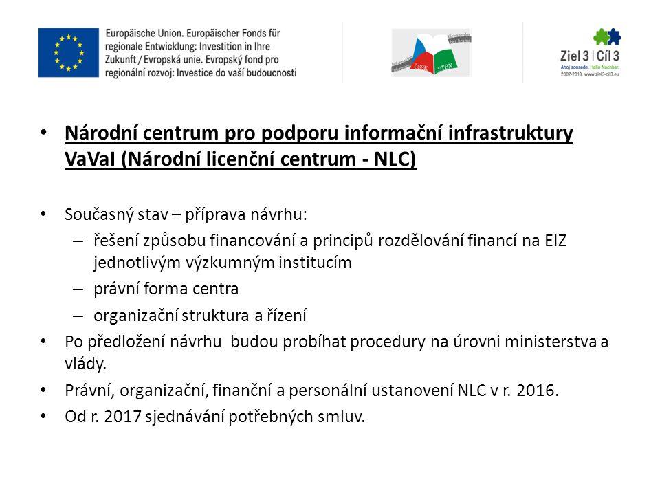 Národní centrum pro podporu informační infrastruktury VaVaI (Národní licenční centrum - NLC)
