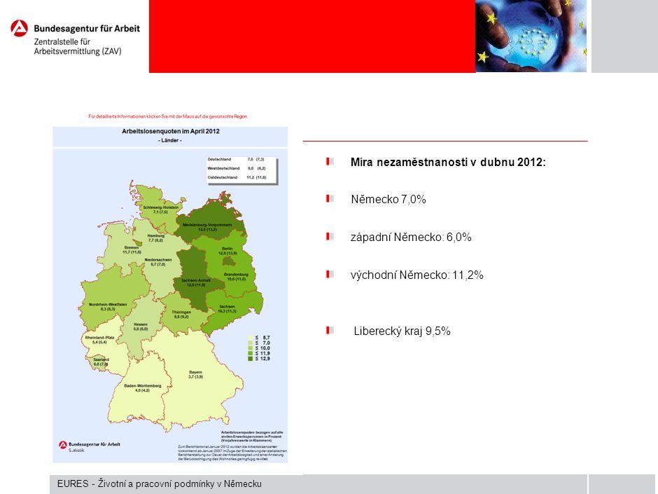 Pracovní trh východního Saska duben 2012