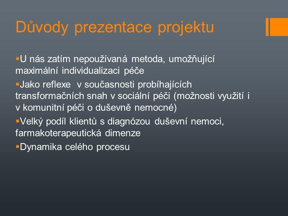 Důvody prezentace projektu