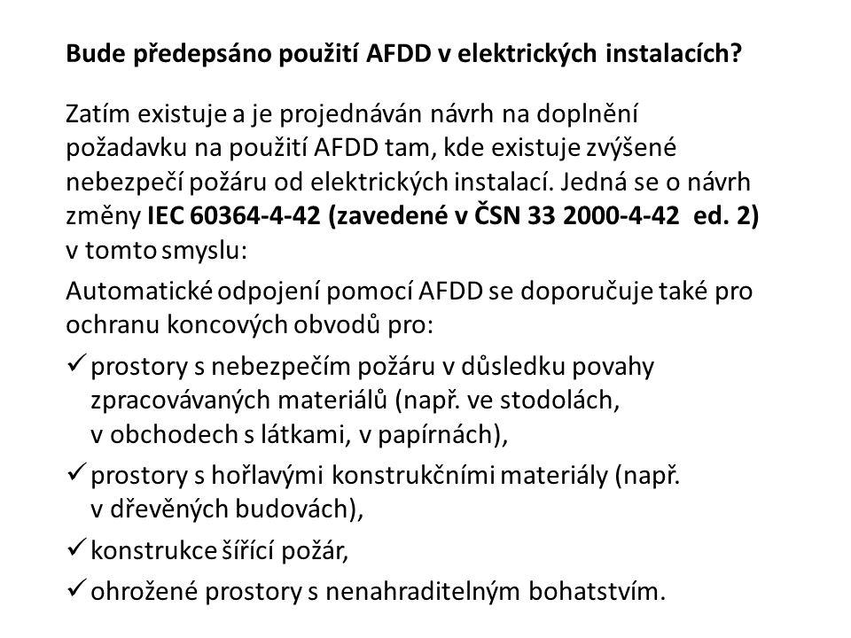 Bude předepsáno použití AFDD v elektrických instalacích