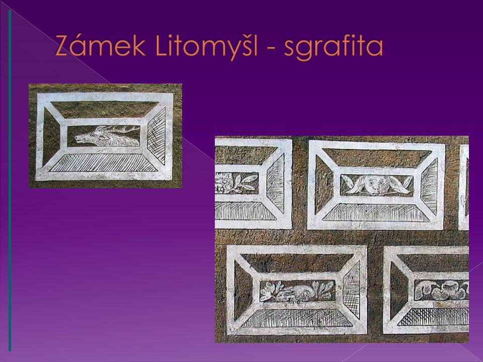 Zámek Litomyšl - sgrafita