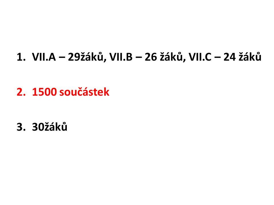 VII.A – 29žáků, VII.B – 26 žáků, VII.C – 24 žáků