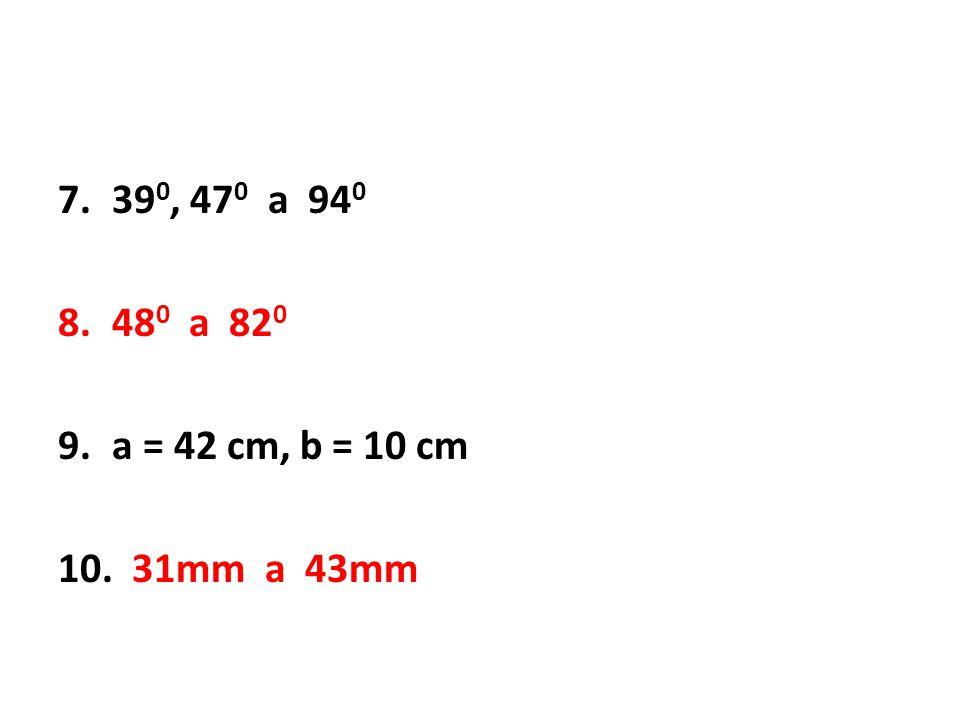 390, 470 a 940 480 a 820 a = 42 cm, b = 10 cm 31mm a 43mm