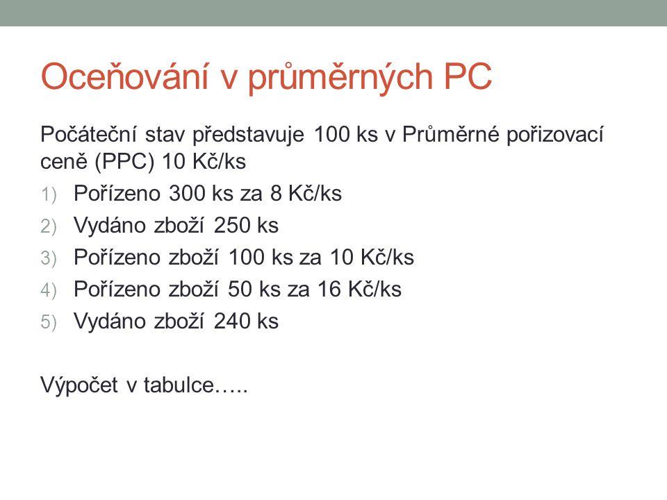 Oceňování v průměrných PC