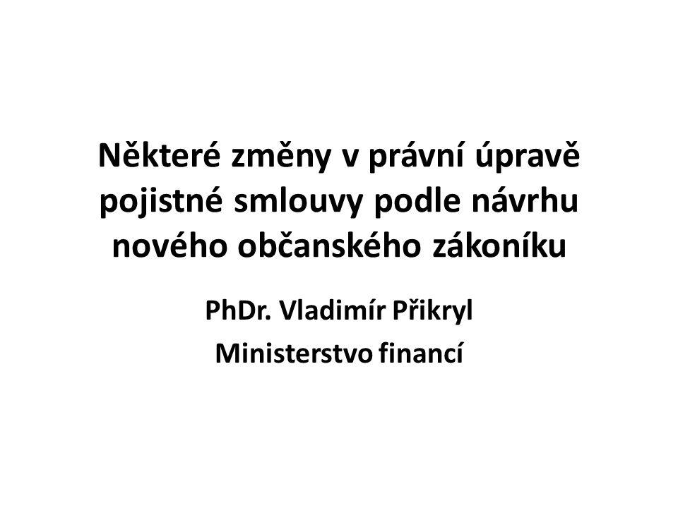 PhDr. Vladimír Přikryl Ministerstvo financí