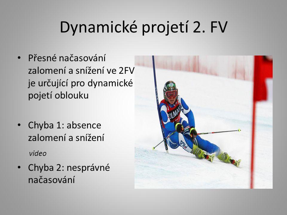 Dynamické projetí 2. FV Přesné načasování zalomení a snížení ve 2FV je určující pro dynamické pojetí oblouku.