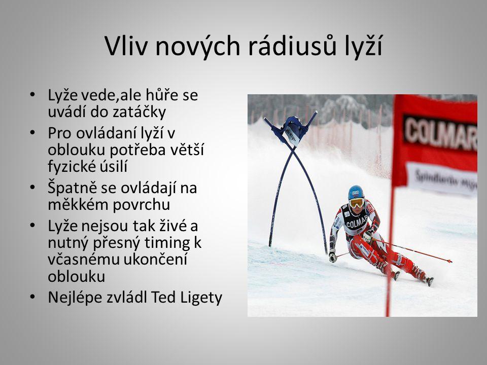 Vliv nových rádiusů lyží