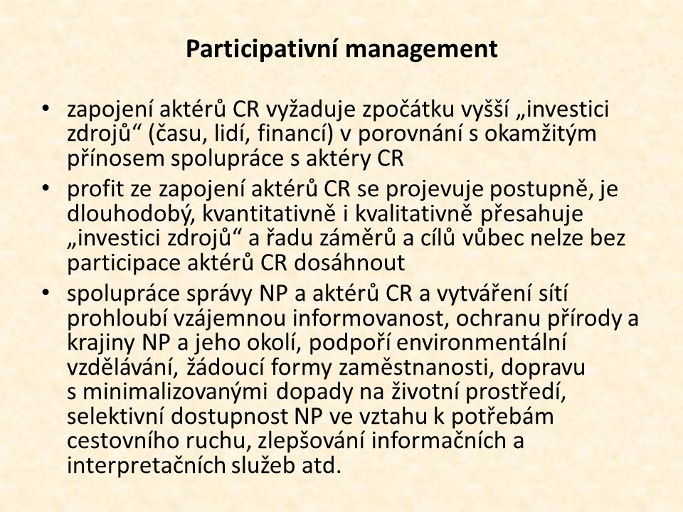 Participativní management