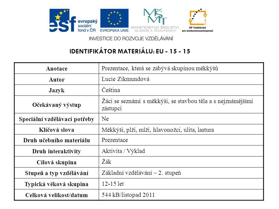 Identifikátor materiálu: EU - 15 - 15