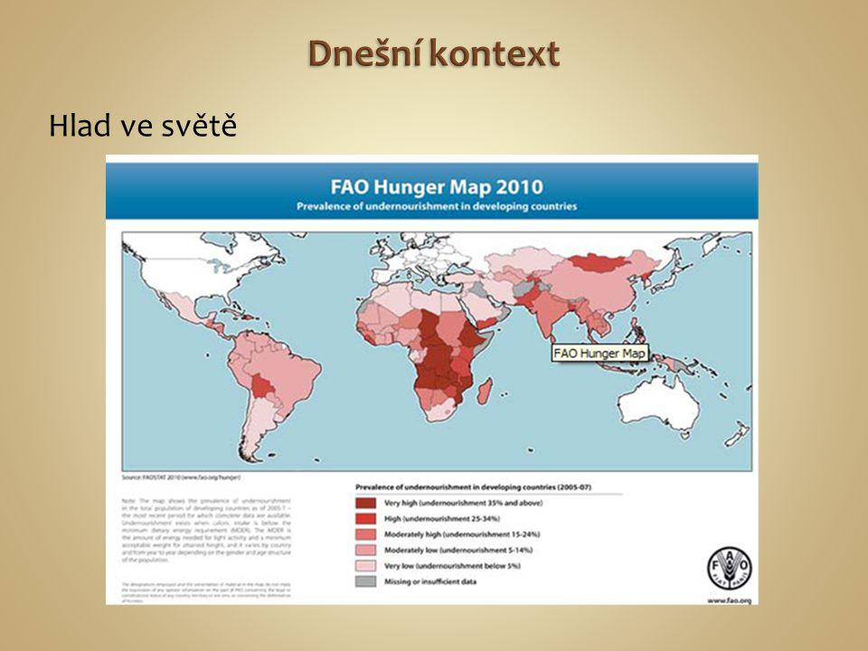 Dnešní kontext Hlad ve světě