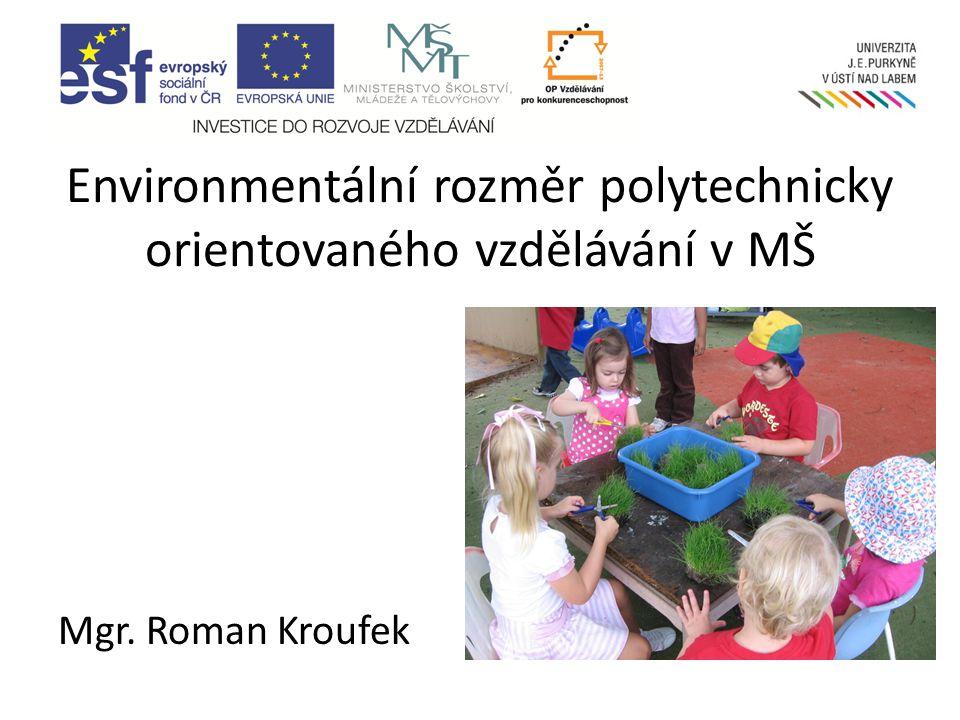 Environmentální rozměr polytechnicky orientovaného vzdělávání v MŠ
