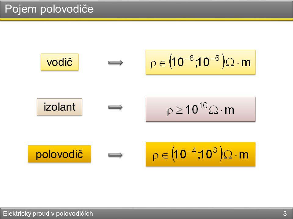 Pojem polovodiče vodič izolant polovodič