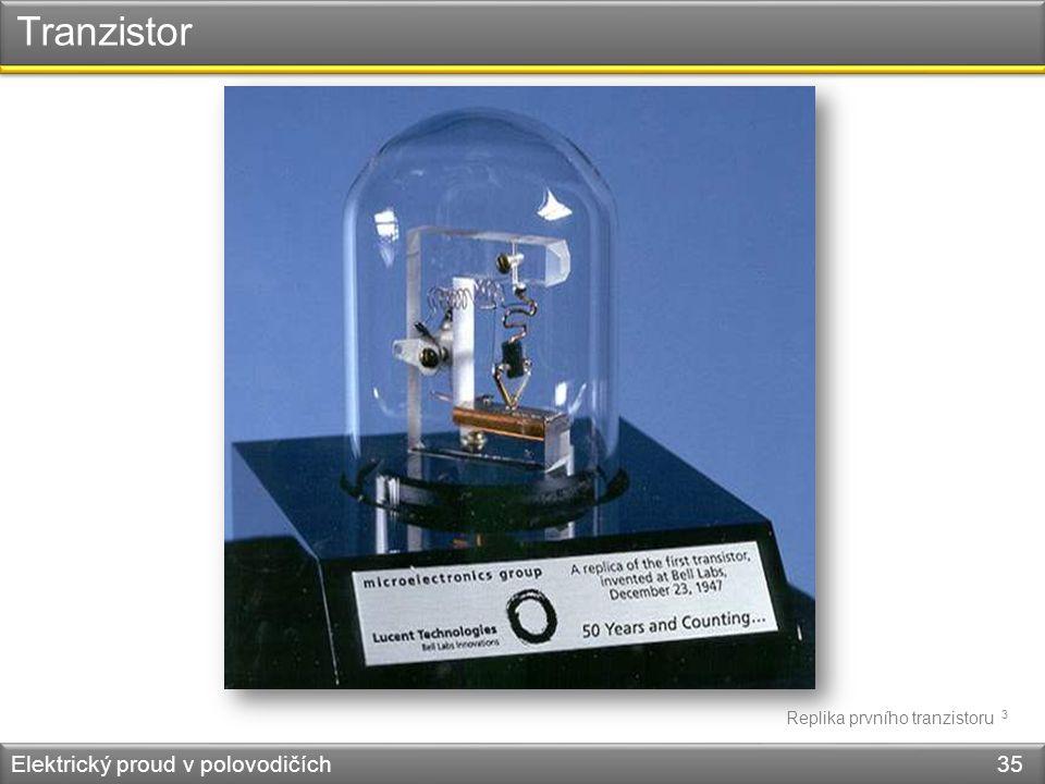 Tranzistor Elektrický proud v polovodičích 35