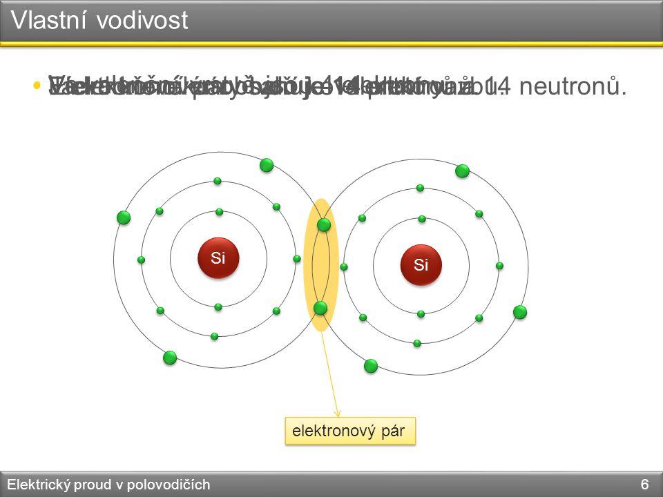 Elektronové páry tvoří kovalentní vazbu.