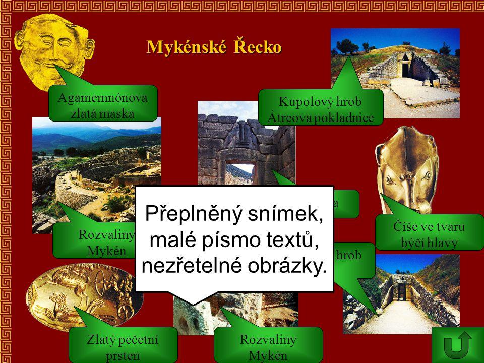 Přeplněný snímek, malé písmo textů, nezřetelné obrázky.